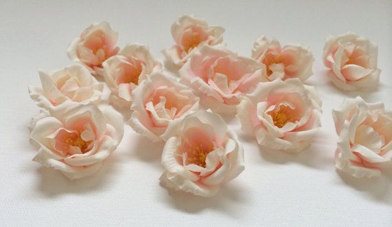 45 best silk flowers on etsy images on pinterest floral crowns silk flowers 12 small blush pink roses artificial flowers artificial roses hair accessories flower crowns mightylinksfo