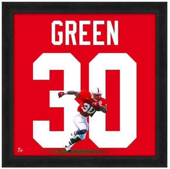 "Ahman Green University of Nebraska Cornhuskers - 20"" x 20"" Uniframe"