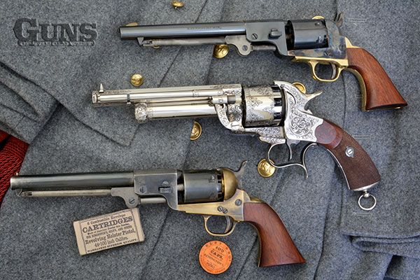 WSI - Confederate Guns ~ from the top: J.H. Dance; LeMat; Griswold & Gunnison.