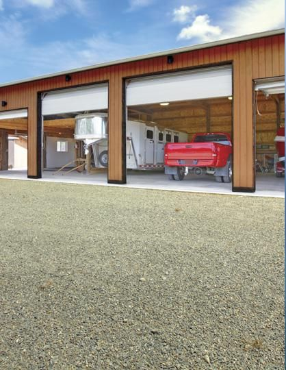 Equine Chronicle » Pulling A Horse Trailer - would love to have this garage