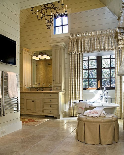 464 best images about furnishings curtains drapes on for Pretty master bathrooms