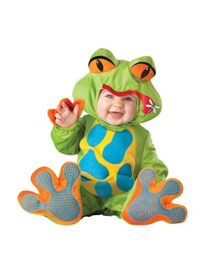 LIL' FROGGY FROG infant boys girls animal kids halloween costume baby 18M - 2T