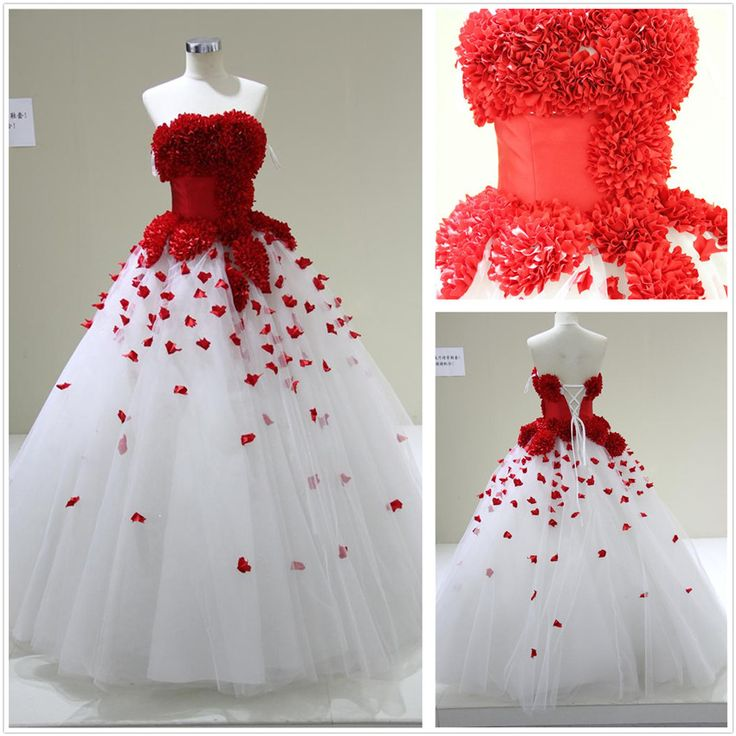 Red And White Ball Gown Wedding Dress: 65 Best RED + WHITE Wedding Dresses Images On Pinterest