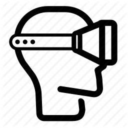 ar, cardboard, head, reality, side, virtual, vr icon