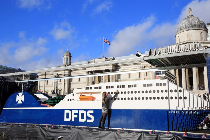 DFDS brings world's largest Lego ship to London
