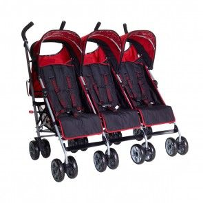 Citi Elite Triple Pushchair Berry Red 0610370758557