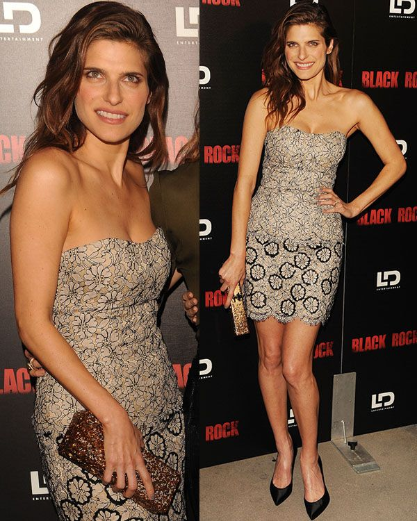 Lake Bell in a floral-printed mini dress at the screening of LD Entertainment's 'Black Rock' in Hollywood, Los Angeles on May 8, 2013