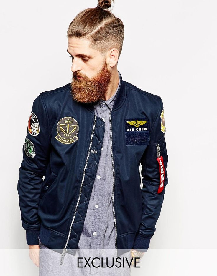 alpha industries bomberjacke mit exklusiven aufn hern 185 72 men clothes pinterest. Black Bedroom Furniture Sets. Home Design Ideas