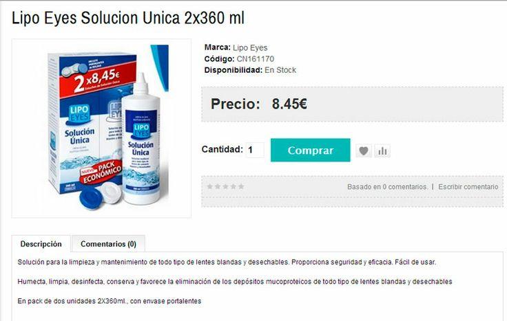 SOLUCION PARA LENTILLAS LIPO EYES 2X360ML CON PORTALENTES DE REGALO SÓLO 8,45€!!