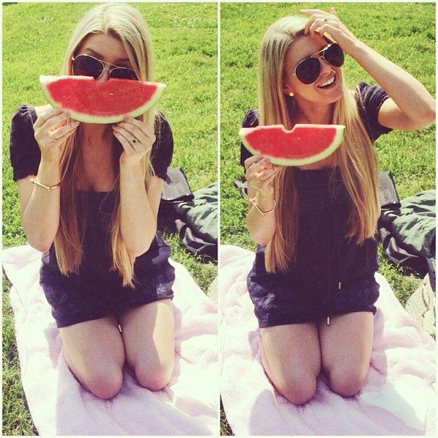 Summer = sunshine + watermelon