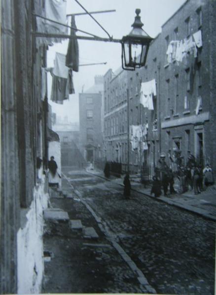 Chancery Lane in Dublin, Ireland. (late 1800's)