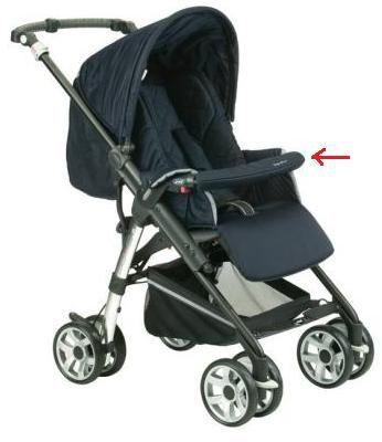 Funda barrera delantera sillas Jane Carrera Pro y Solo (no compatible con otras sillas)