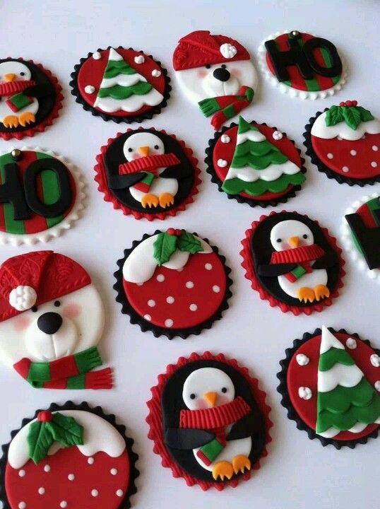 Xmas cupcake toppers