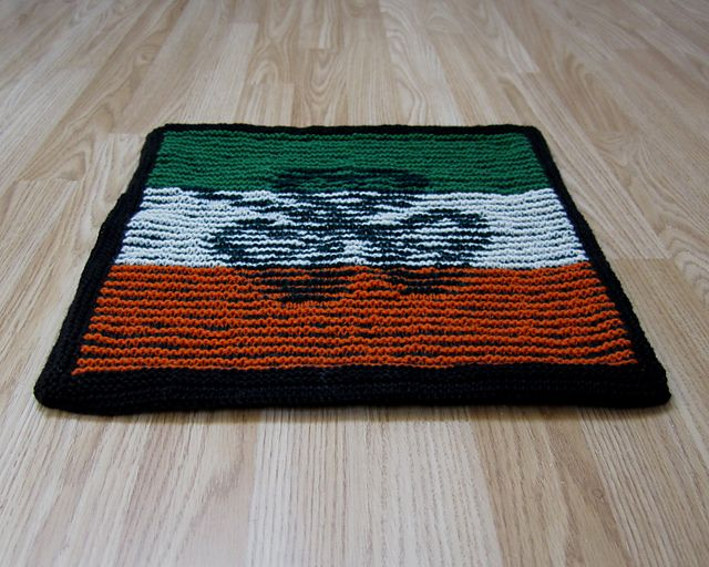 Illusion knitting cushion made for a member of the 2012 Paralympics Ireland team