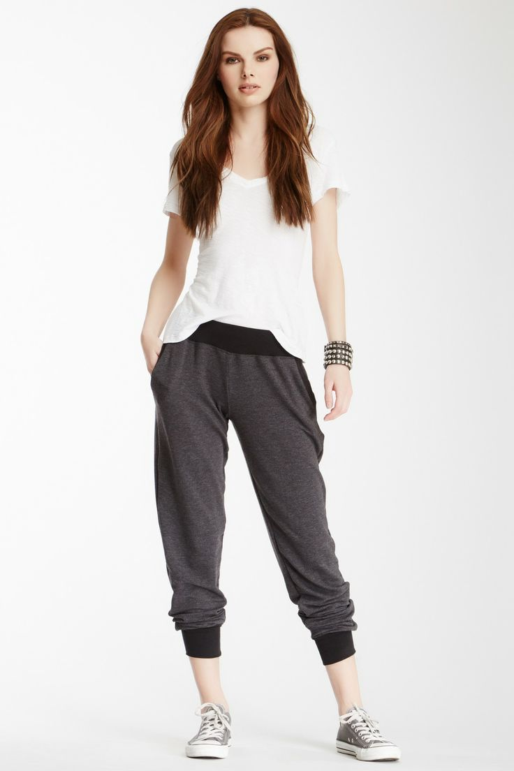 contrast trim lounge pants