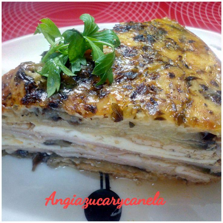 Como estamos en temporada de berenjenas he preparado un pastel salado que queda muy bien en la olla GM en función horno...............
