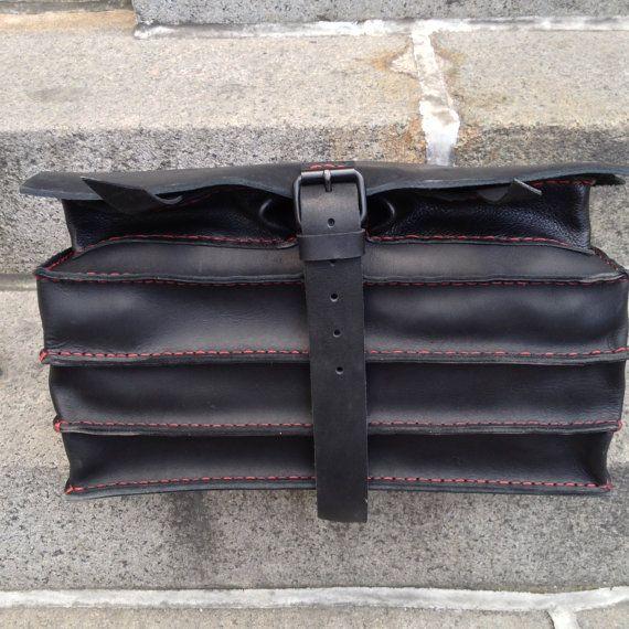 Man briefcase  leather man bag  three by LUSCIOUSLEATHERNYC