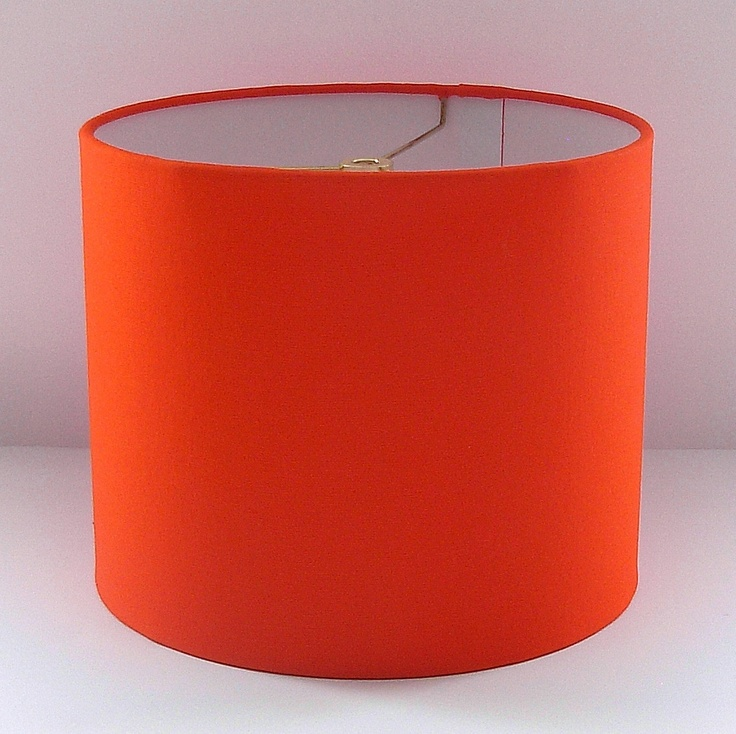 Orange Lamp Shade Small Drum Shade Other Colors Available...Yellow, Red, Blue, Green, Orange ...