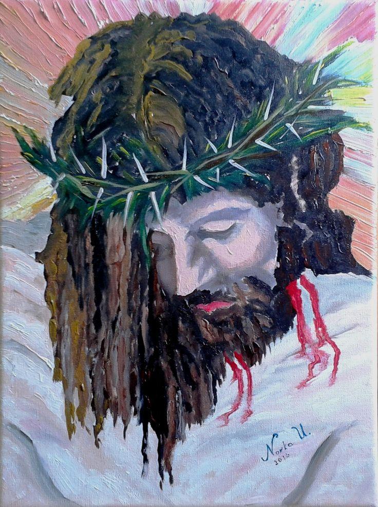 Norka Ubilla Cristo pasión óleo sobre tela 40 x 50 cms (Réplica)