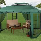 Metal Steel Nylon Gazebo 10x12 Canopy Outdoor Patio Furniture Sun Shade Tent NEW