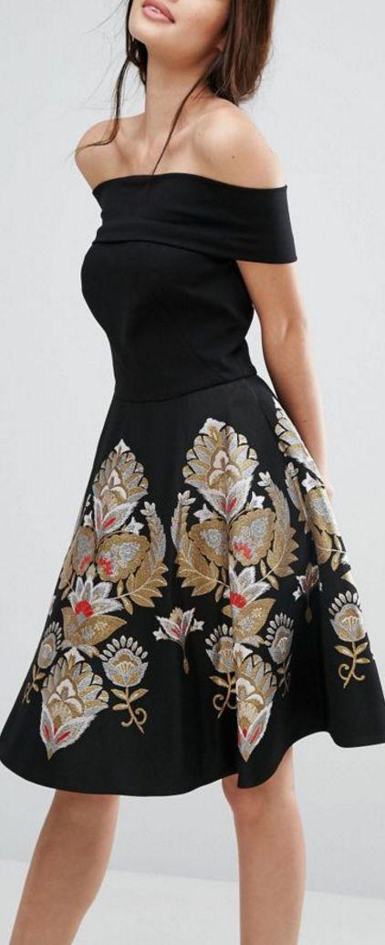 opulent bardot dress
