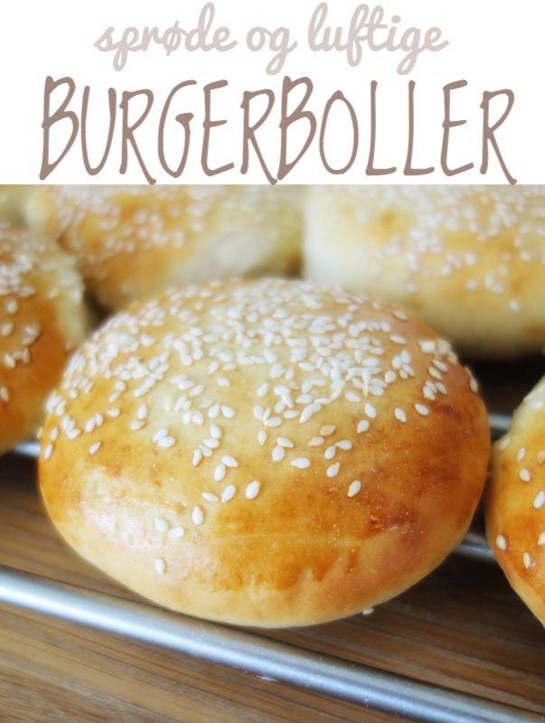 Sprøde og luftige hjemmelavede burgerboller. En burger med hjemmebagte boller smager meget bedre!