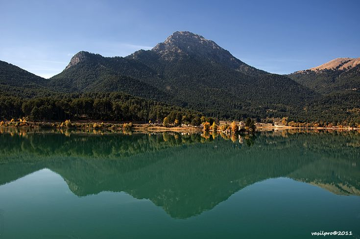 Lake Doxa (Greek: Λίμνη Δόξα Limni Doxa) is an artificial lake or reservoir at an elevation of 900 m. Located in west Feneos in Corinthia only 2 km east of the Achaia and Arcadia prefectural boundaries.