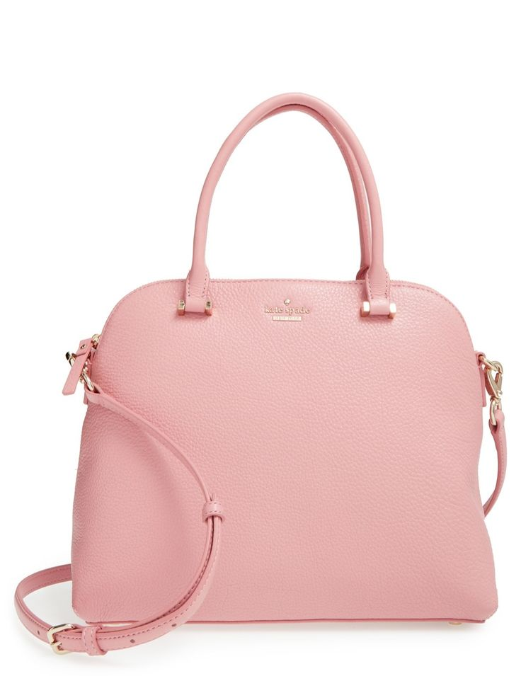 This pretty pink purse is sure to lend a touch of Kate Spade sophistication to any uptown-chic look.