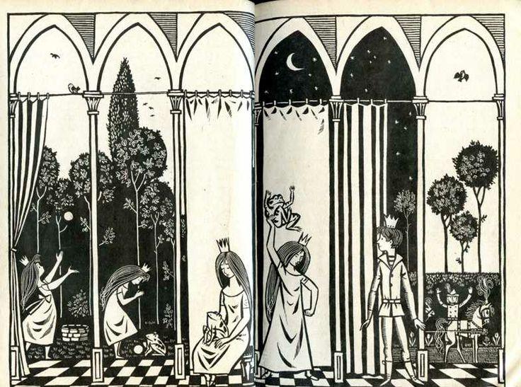 """""""Die Kinder- und Hausmärchen der Brüder Grimm,""""  Illustrationen von Werner Klemke. Verlag: Kinderbuchverlag, Berlin."""