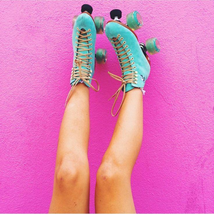 Sierra furtado's roller skates are goals