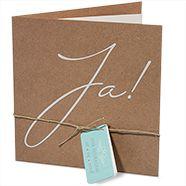 Einladungskarten zur Hochzeit – Packpapierstil