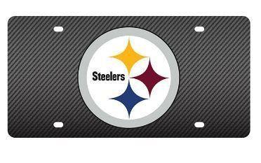 NFL Pittsburgh Steelers Carbon Fiber License Plate
