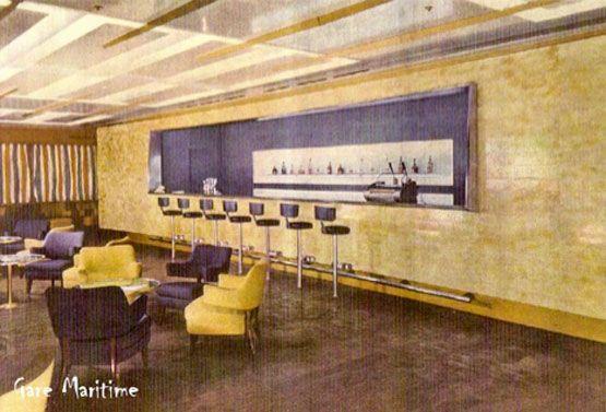 SS Andrea Doria | First Class bar