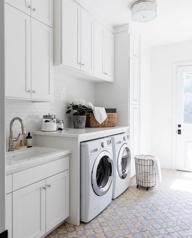 eine Zusammenfassung von Waschküchen, die so wunderschön sind, dass Sie tatsächlich Wäsche waschen möchten