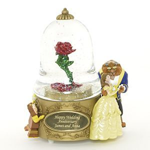 Disney Beauty and the Beast Personalized Snowglobe
