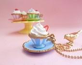 Princess Tea Cup Necklace