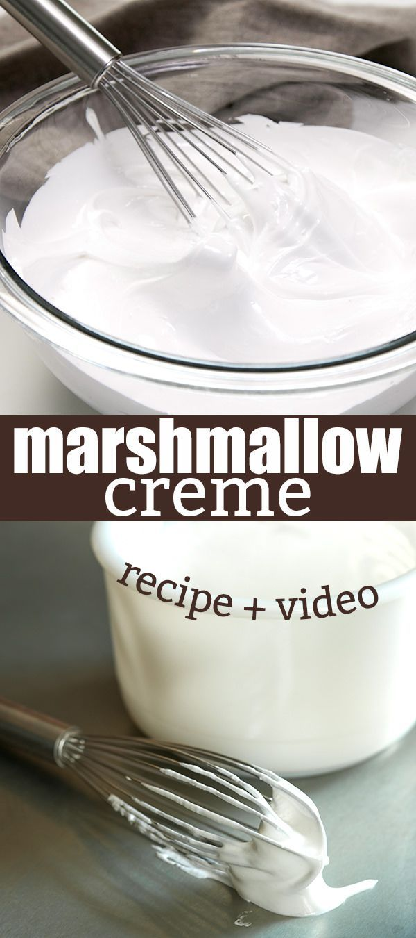There are only 5 ingredients (including water!) in this simple recipe for homemade marshmallow creme, the soft, spreadable fluff. So easy!