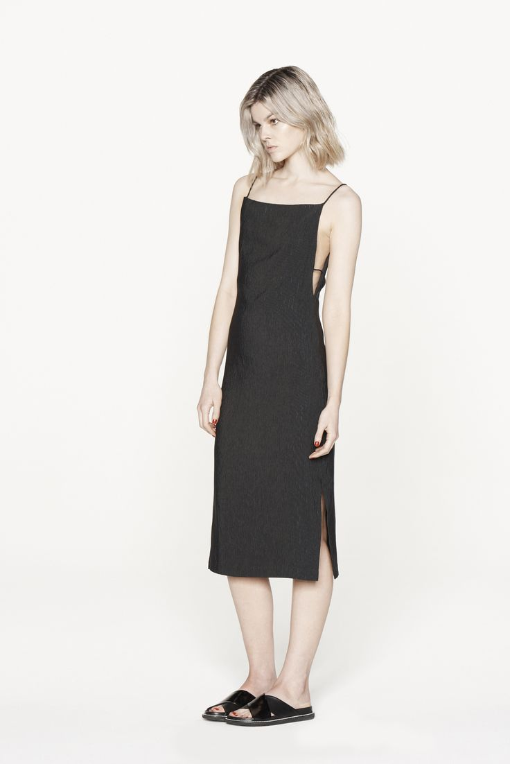 THIRD FORM RESORT 15 | PARTING CAMI DRESS #thirdform #fashion #streetstyle #minimal #trend #chic #dress #black