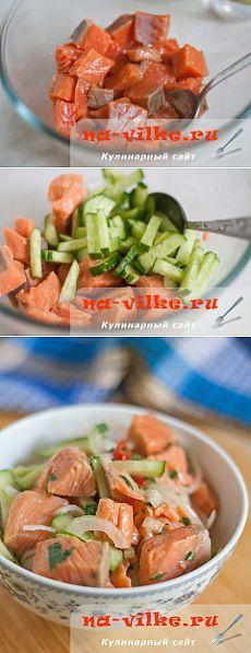 Хе из красной рыбы по-корейски.