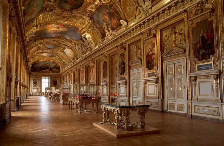 Picture of the Apollo Gallery at the Louvre in Paris France