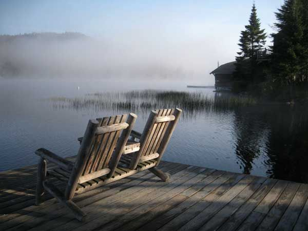 Big Moose Lake | Adirondack Mtns.    Canoeing in the morning mist is an awesome way to start one's day