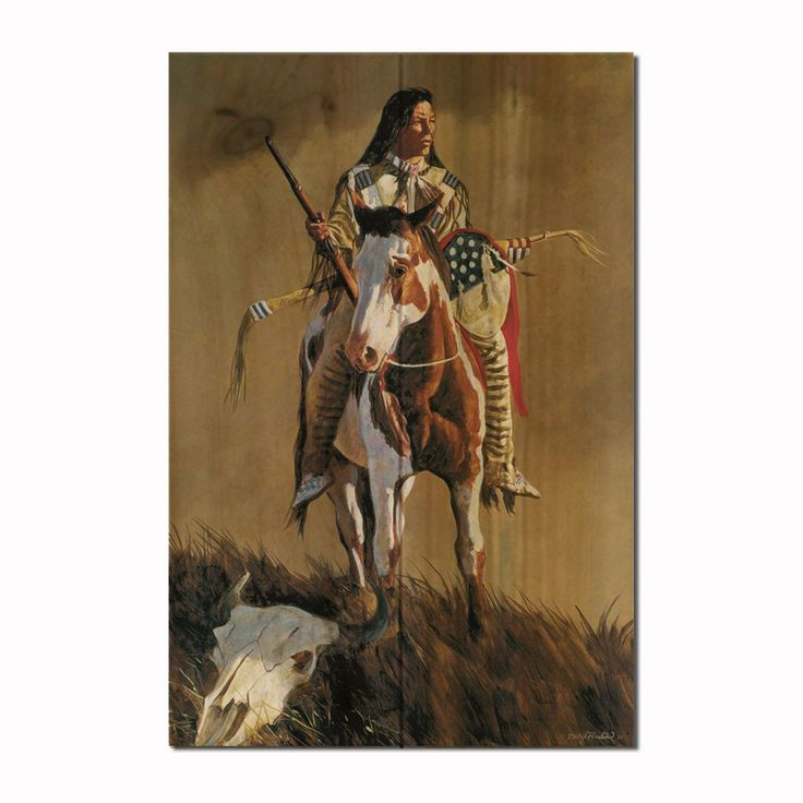 Ghost of the Plains Painting Print on Wood