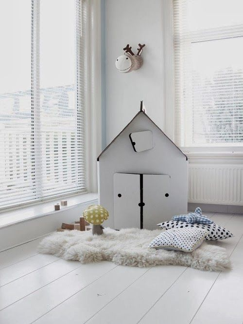 A white and yellow children's bedroom