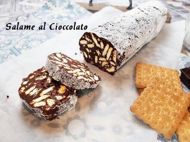 Ricetta Salame Al Cioccolato Proteico.Salame Di Cioccolato Dolci Ricette Dolci Fatti In Casa Cioccolato