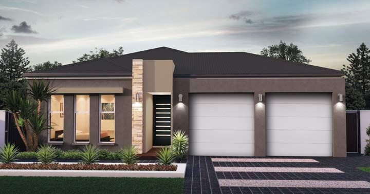 Design Eleven Facade 1 - from the Weeks and Macklin Homes Choice Series. The perfect balance of private and open plan living. This functional design represents the perfect balance between open plan and private living spaces. With all of the private living areas positioned on the left of the home peace & quiet is never hard to find. #weeksmacklinhomes #house #home #facade