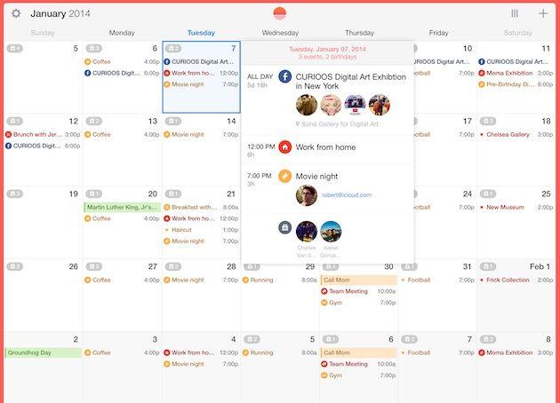 Social calendar app Sunrise finally comes to iPad Calendar app - event calendar