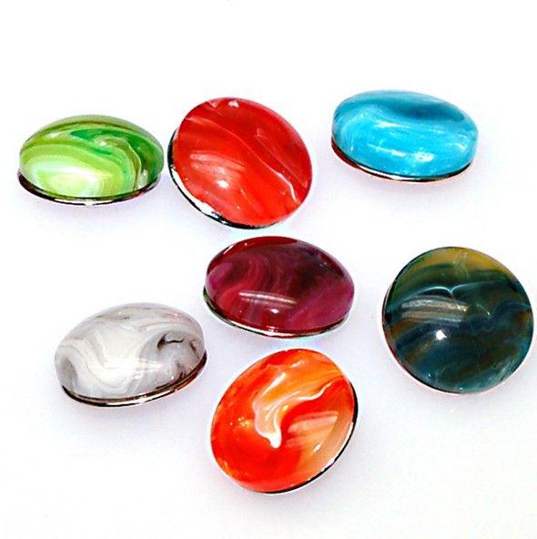 18 мм смолы прелести для DIY привязать браслеты и ювелирные изделия подходит оснастки кнопку очарование браслет.