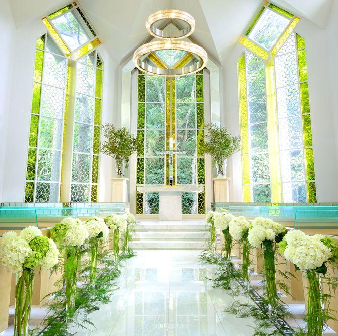 鹿児島の城山ウェディングのチャペルは透明感があって素敵♡チャペルでの結婚式おしゃれまとめ♡ウェディング・ブライダルの参考に♪