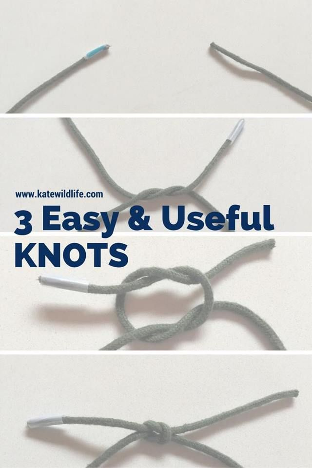 3 easy and useful knots that you can use in survival situations or in life! with video tutorials