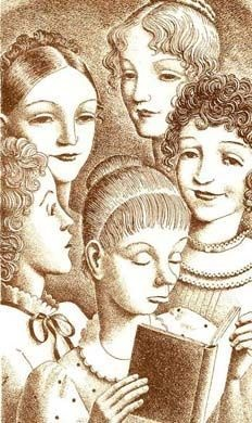 """Five Bennet sisters: RARE 1940 `Pride and Prejudice' Slipcase 'Jane Austen' - """"Helen Sewell"""" Illustrations / Out-Of-Print Limited Edition"""